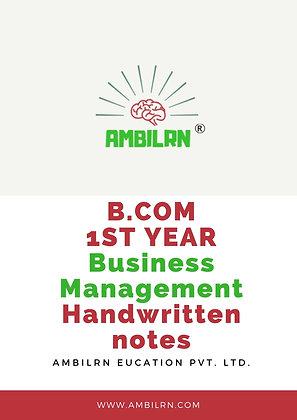 Business Management B Com 1st Year Handwritten Notes