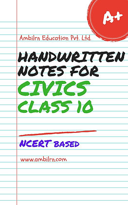 Civics Class 10  Handwritten Notes