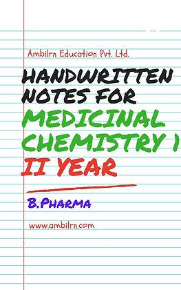 Medicinal Chemistry B.Pharma