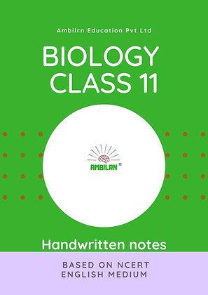 Biology Class 11   Handwritten notes