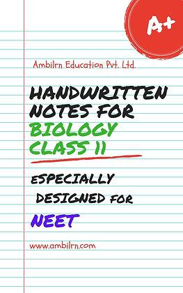 Biology Class 11 - NEET (handwritten notes)