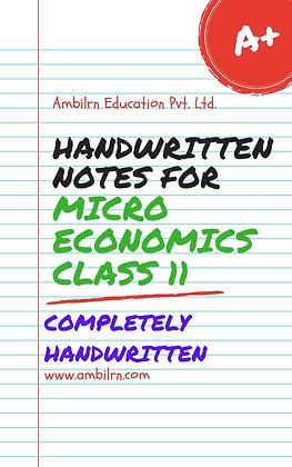 Economics Class 11 Handwritten notes  Micro economics