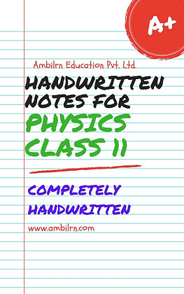 Physics Class 11 Full Syllabus   - Handwritten notes