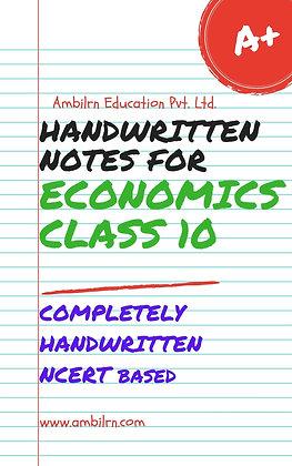 Economics Class 10  Handwritten Notes
