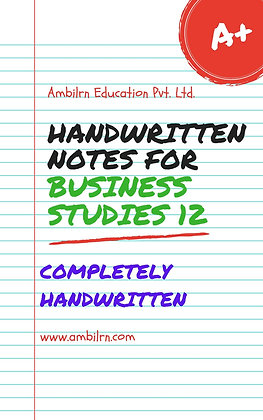Business Studies Class 12 Chapter 1 - Handwritten