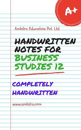 Business Studies Class 12 Chapter 2 - Handwritten
