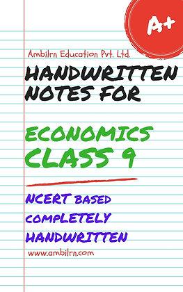 Economics Class 9  Handwritten Notes