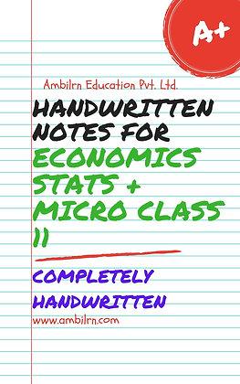 Economics  Class 11  Handwritten notes