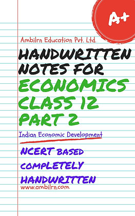 Economics  Class 12  Handwritten notes - Indian Economic Development