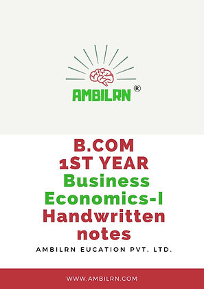 Business Economics B Com 1st Year Handwritten Notes