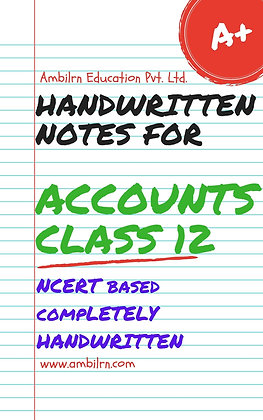 Accounts Class 12 Handwritten Notes