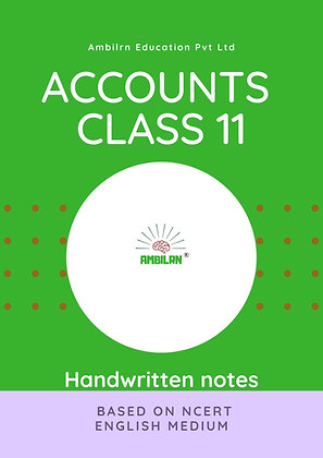 Accounts Class 11 Handwritten Notes