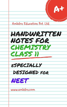 Chemistry Class 11 - NEET (handwritten notes)