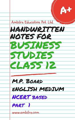 Business Studies Class 12 Handwritten Notes MP Board