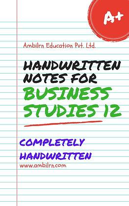 Business Studies Class 12 Handwritten Notes