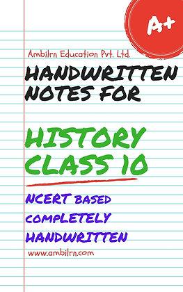 History Class 10  Handwritten Notes