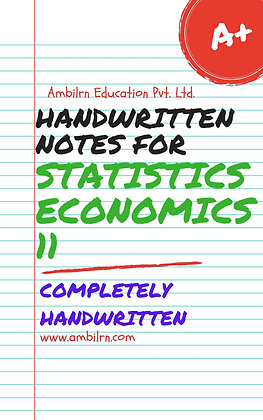 Economics  Class 11  Handwritten notes - Statistics