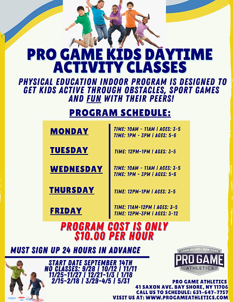 Pro Game Kids Daytime activity class.png