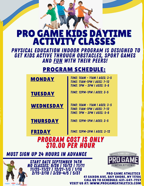 Pro Game Kids Daytime activity class (1)