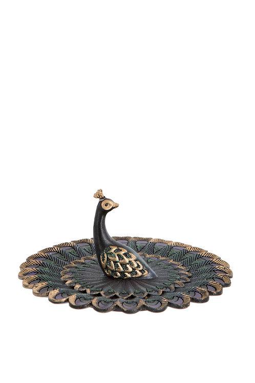 Blue Peacock Dish