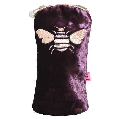 Bee Glasses Purse - Plum