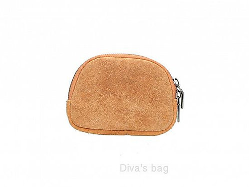 Beige - Suede Italian Leather Pouch