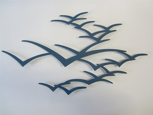 Seagulls in Flight Wall Art - Turquoise