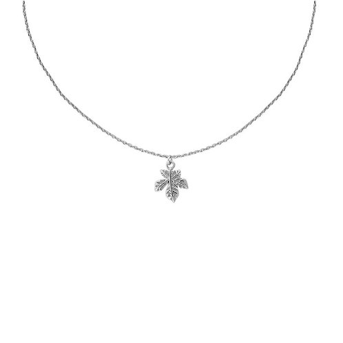 Silver plated leaf delicate pendant