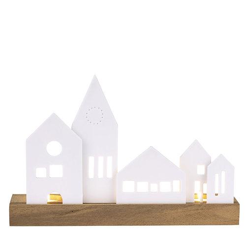 Row of Houses T Light Holder
