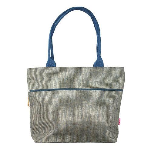 Tote Shoulder Bag - Mustard Stripe