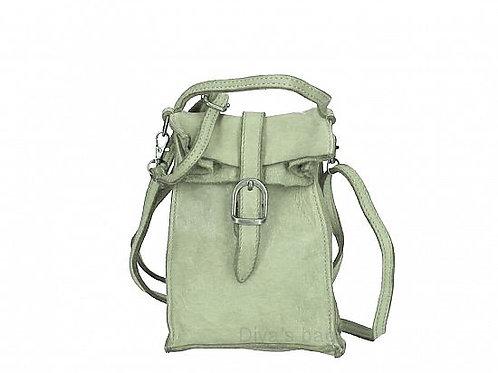 Mint Small Buckle Crossbody Bag Italian Leather