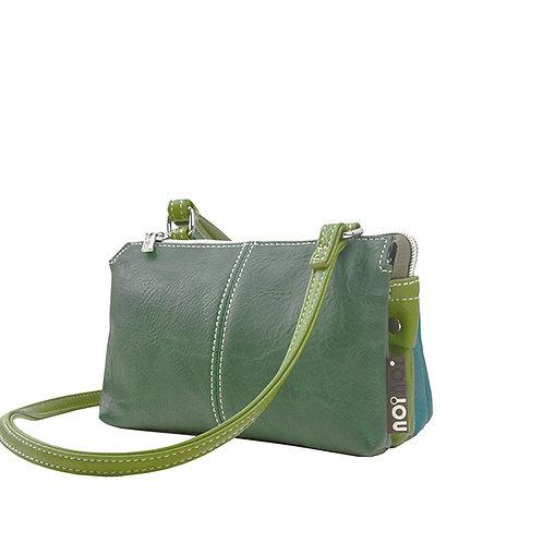Green & Blue Shoulder Bag Vegan Leather