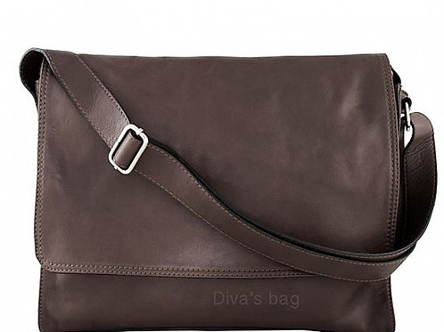 Soft Messenger Bag - Dark Brown Italian Leather