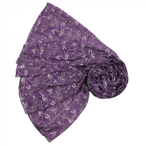 Branch and berry scarf - purple
