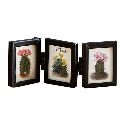 Black Mini Triple Photo Frame