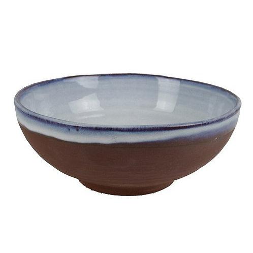 Ice- Medium Ceramic Rustic Bowl