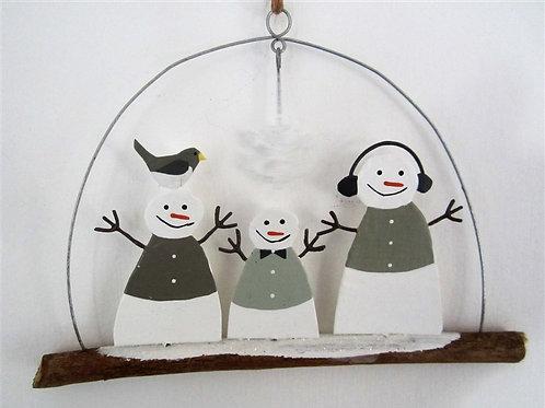 Neutral Snowman on Stick