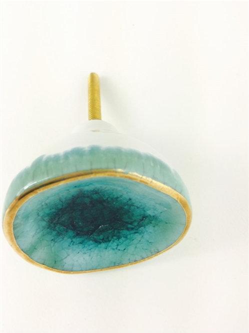 Ceramic Turquoise Knob
