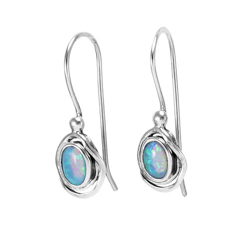 Opalite Sterling Silver Hook Earrings
