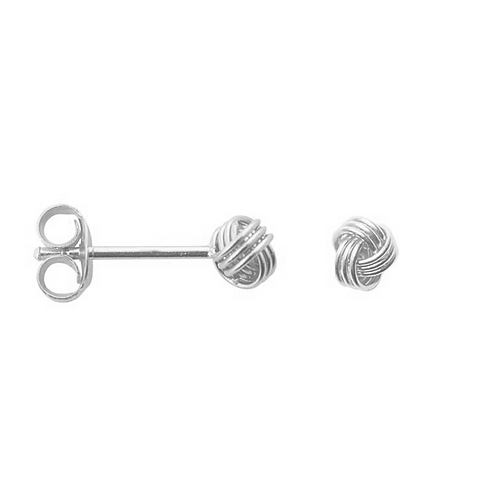 Button Sterling Silver  Stud