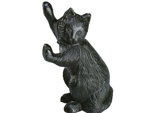 Stretching Cat Doorstop  in Cast Iron