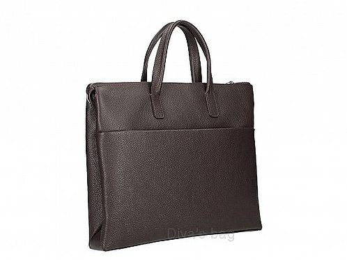 Leather Work Bag - Dark Brown