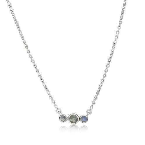 Sterling Silver Orion Gemstone Necklace -Labradorite