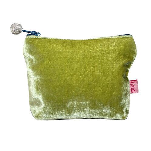 Mini Velvet Purse -Lime Green