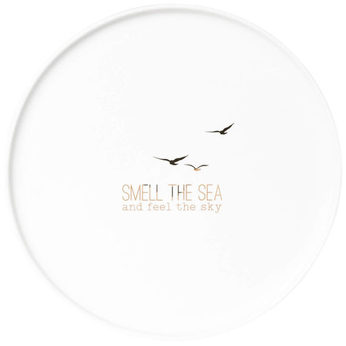Smell the Sea  White Porcelain Plate