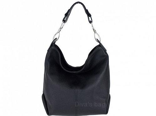 Black Shoulder Bag with Long Strap