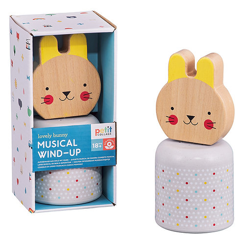 Musical Wind up Wooden Bunny (12months+)