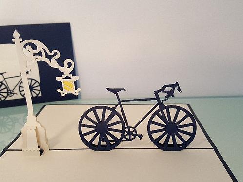 Bike & Dublin Street Light Pop Up Card