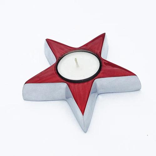 Star Tealight - red