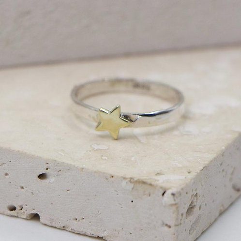 Sterling Silver Star Ring - Size 6